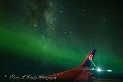 Aurora, Milky Way and the Moon (Maree A Reveley Photography) Tags: flighttothelights 10seconds 2017 24mm 66degreessouth 767 airnewzealand aurora auroraaustralis canoneos6d charter dunedin iso1600 lensskirt longexposure mareeareveleyphotography nz1980 newzealand night otago samyang24mmf14 southisland stars wing f14 milkyway galactickiwi galactic core galaxy moon astro astrophotography airnz