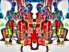 the healing power of drums...EXPLORED 03/29/2017 (LotusMoon Photography) Tags: photoart photomanipulation dreamlike dreamscapes drummers drumming people mirrored mirrorlike photoshop colorful artistic healing healers dancer dancing spiritual memories past unconscious surreal blurred painterly dreamy annasheradon lotusmoonphotography