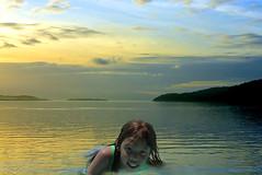 As Daylight fades (swong95765) Tags: girl kid water swim wet evening dusk light memories shallows