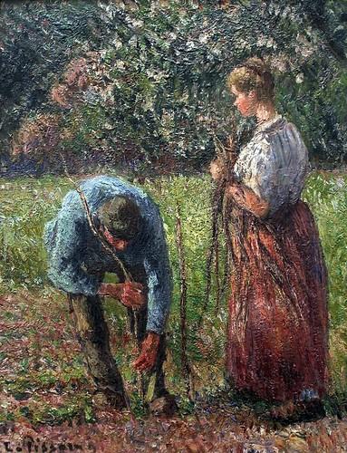 Les Rameurs de pois (C Pissarro)