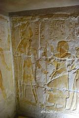 Maya and god Sokar (konde) Tags: mayaandmerit tomb 18thdynasty mayaandmeryt newkingdom saqqara ancient god antefcrown tombrelief hieroglyphs sokar