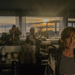 The Photog in Focus (peter_hasselbom) Tags: djupvik gotland karlsöarna balticsea settingsun sunset sea restaurant bar selfportrait fujifilm