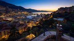 Good morning Monaco (.remfer06) Tags: 12mm monaco sunrise samyang lever soleil ciel ville port harbour diffraction view poit point de vue lunette scope f1 gp track circuit sony a7