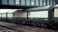 c.1969 - Clapham Junction, London. (53A Models) Tags: britishrail southernrailway maunsell postofficestowagevan s4957s npcs claphamjunction london train railway locomotive railroad