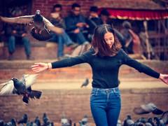 Having fun in the rain at Kathmandu Durbar Square, Kathmandu, Nepal (CamelKW) Tags: abc annapurnabasecamptrek annapurnaregiontrek annapurnasanctuary fishtail kathmandu mbc machapuchare machapucharebasecamp nepal pokhara trekking