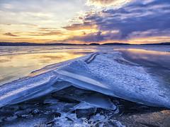 Broken ice (Taavi Salakka) Tags: finland ice lappeenranta landscapes landscape olympus omd naturephotography waterscape lake lakescape spring