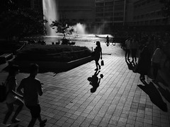 350/365 Lady of the street (De Style) Tags: ricoh gxr a12 28mm f25 black white street photography back light shadow flare people outdoor woman lady beauty klcc kuala lumpur city life