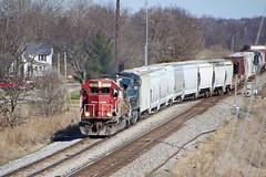 Taking the siding at Lewiston (AndyWS formerly_WisconsinSkies) Tags: train railroad railway railfan canadianpacificrailway canadianpacific cprail cp sooline soo soolinesd60 emd sd60 emdsd60 locomotive