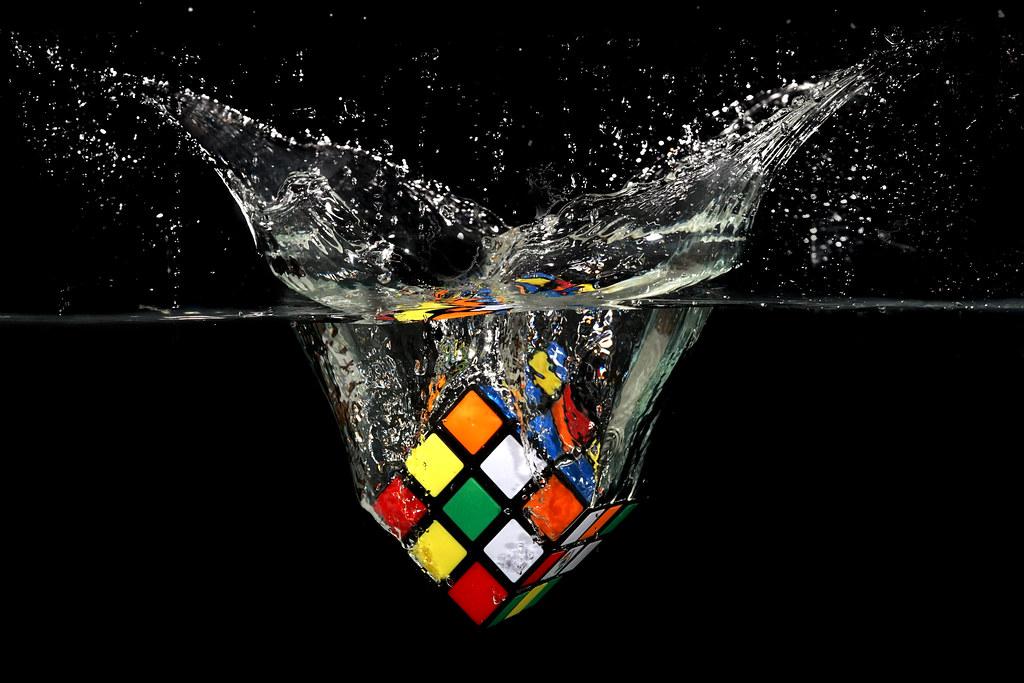 3d rubiks cube wallpaper