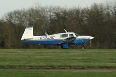 G-OJAC (IndiaEcho Photography) Tags: gojac mooney m20 london biggin hill airport airfield egkb bqh bromley civil aircraft aeroplane aviation canon eos 1000d kent england