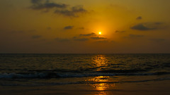 As another day fades (Akhil Sanjeev) Tags: alappuzha alleppey beach sunset kerala goldenhour