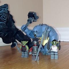 Trolls, Orcs and an Uruk-Hai (splinky9000) Tags: kingston ontario the tyranny of lord hammerhead lego toys minifigures rings moria orcs urukhai cave troll pacific rim kaiju neca leatherback action figure