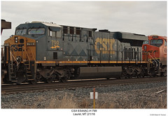CSX ES44AC-H 799 (Robert W. Thomson) Tags: csx ge diesel locomotive sixaxle es44 es44ac es44ach gevo evolutionseries train trains trainengine railroad railway laurel montana