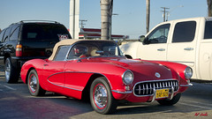 1956 Chevrolet Corvette (Pat Durkin OC) Tags: 1957chevrolet corvette red softtop