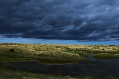 Sunny Day over sand dunes with moody  clouds (gary.t.17) Tags: reflection 100faves unusual dull bright clear curious strange moody 75faves 50faves dunes sand 18mm storm stormy sun sunny d3300 nikon clouds
