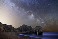 Durdle Door Milky Way (mpelleymounter) Tags: dorset dorsetlandscapes dorsetseascapes durdledoor markpelleymounter milkyway astrophotography staradvernturer skytracker durdledor lulworth jurassiccoast unesco nightphotography nighttime stars beach limestonearch longexposure