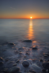 Sunrise... (fearghal breathnach) Tags: naylorscove sunrise seascape leefilters pebbles