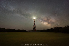 Cape Hatteras Light (Mike Ver Sprill - Milky Way Mike) Tags: path light cape hatteras lighthouse house north carolina obx outer banks milky way galaxy mike versprill ver sprill landscape nightscape night sky nightscaper astrophotography astronomy brick walk long exposure royce bair fusco