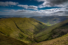 Wales knows how to do valleys! Cwm Cywarch, Near Dinas Mawddwy, Snowdonia (Explore) (christaff1010) Tags: d750 landscape mountains panorama clouds aranfawddwy sun britain cwmcywarch wales snowdonia sky sunlight green hills uk valley rhydymain unitedkingdom gb