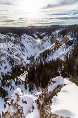 Grand Canyon of the Yellowstone from Lookout Point 2.15.17 (YellowstoneNPS) Tags: lookoutpoint lowerfalls yellowstone yellowstoneriver portrait winter