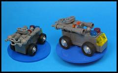 Riot Control Foam Van (Karf Oohlu) Tags: lego moc microscale vehicle van policevan riotvan