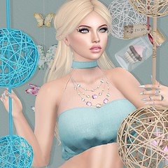#160 This is the world you've created (Violet Batriani | Blogger | Model) Tags: secondlife secondlifefashion bento catya maitreya head hands pastel aliceinwonderland blue gems thick liner thickliner