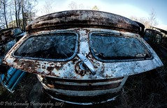 Awkward Smile (4 Pete Seek) Tags: oldcarcity oldautos oldcars oldrustycars rustyautos rustycars rustyoldcars rusty rust southeasternphotographicsociety wideangle ultrawideangle superwideangle swa uwa wa fisheye rokinon8mmfisheye