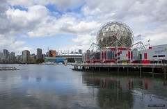 Across The Creek (Clayton Perry Photoworks) Tags: vancouver bc canada spring city falsecreek skyline scienceworld bcplacestadium clouds