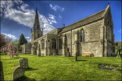 Woodford Church (Darwinsgift) Tags: woodford church northamptonshire hdr photomatix spring churchyard pc pce nikkor e 19mm f4 tilt shift nikon d810