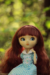 Addaura (Naekolyset) Tags: pullip pullips doll pullipdoll redhead blueeyes freckles pullipanneshirley anneshirley pullipanneshirley2004 portrait cute girl love her much jouet toy toys nature forest blueyes spring wig makeup junplanning groove bokeh lights