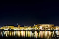 Stockholm Reflections (nydavid1234) Tags: nikon d600 nydavid1234 sweden stockholm night longexposure water reflections cityscape wideangle urban city landscape lights