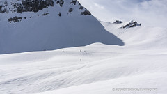 five persons and one sign (ignacy50.pl) Tags: mountans snow space winter landscape people sky ski france alps alpine ignacy50