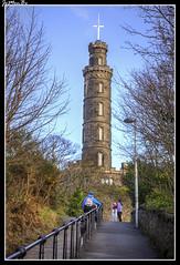 Nelson Monument, Edimburgo (jemonbe) Tags: nelsonmonumente caltonhill edimburgo dùnèideann escocia scotland alba jemonbe horationelsón trafalgar telescopio torre