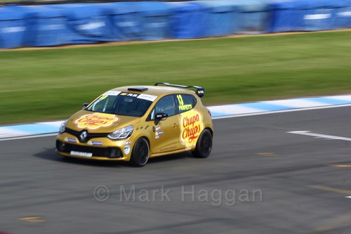 Ambrogio Perfetti in the Clio Cup qualifying during the BTCC Weekend at Donington Park 2017: Saturday, 15th April