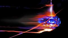 ZAP (Bob's Digital Eye) Tags: 2017 abstract action blue blur bobsdigitaleye canon crystal crystalball ef50mmf18ii electric glass intentionalblur macro macromondays motion t3i flicker flickr