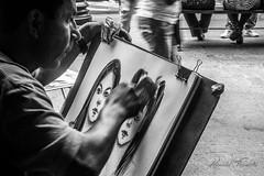 Dibujando la ternura (@rontacuchi) Tags: black blanco calle negro paint photographer portrait retrato street white distritodelima departamentodelima perú