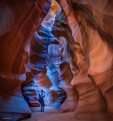 Filming in Antelope Canyon-Arizona
