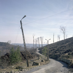 Opawskie Mountains, Poland. (wojszyca) Tags: yashica mat 124g tlr 6x6 120 mediumformat fuji pro 160c gossen lunaprosbc epson v800 rural decay road mountains