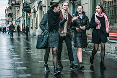 There is always a place for a doubt (rsvatox) Tags: saintpetersburg applause steet urban group candid attention girls interaction streetscene city rain nevsky weather walkers people outdoors
