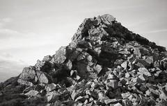 Stiperstones (OhDark30) Tags: olympus 35rc 35 rc film 35mm bw blackandwhite bwfp monochrome fomapan 200 rodinal peak hill countryside landscape outcrop quartzite stiperstones shropshire hills rocks