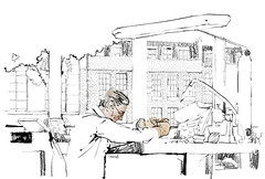 Sekford watchmaker working illustration (SEKFORD) Tags: artisan watchmaker handmade sekford watch watches controlling passion art watchmaking britain swissmade illustration