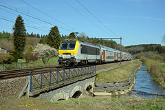 HLE 1359 + IC 2108, Mellier, 24th April 2017 (cfl1969) Tags: mellier hle1359 hle13 l162 sncb nmbs alstom