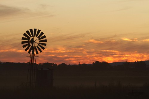 Windmill, Dust and  sunse _1527