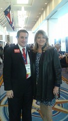 Joe Kaufman with the Co-Chairman of The Republican National Committee Sharon Day.