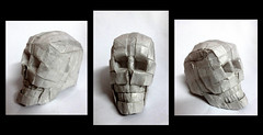 Origami skull 3d (Neelesh K) Tags: baby angel skull spider origami dragon faces masks lincoln batman joker daredevil wyvern uchiha neelesh madara boxpleating origamiskull