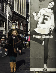 From Sketch (stevedexteruk) Tags: from street london westminster fashion advertising poster french sketch clothing construction little circus argyll soho billboard oxford connection 2014