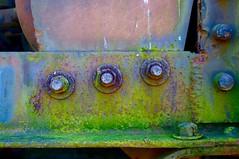 The Big Three (StephenReed) Tags: abstract art metal rust paint abstractart bolts weathered peelingpaint nikond80 thebigthree stephenreed
