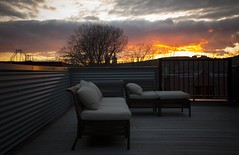 Napalm in the evening (Oddition) Tags: sunset orange de soleil montreal coucher peaceful deck montroyal pointesaintcharles