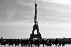 Eiffel #2 (giuliaph.) Tags: city people white black paris tower art love blackwhite tour artistic eiffel bn trocadero