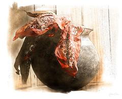 Potted Bandanas.. Day 138 2014 (IncognitoArtz) Tags: sketch pot bandana paintcreation